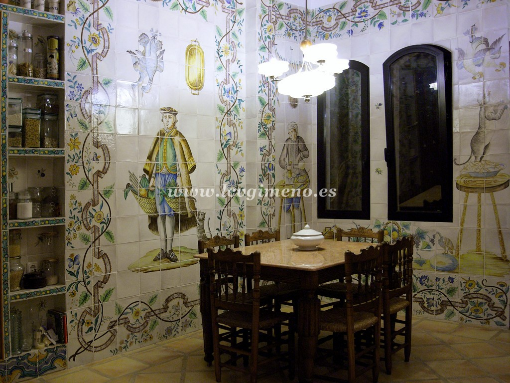 La ceramica valenciana de jose gimeno for Azulejos antiguos para cocina